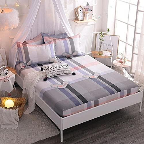 CYYyang Protector de colchón Transpirable.Rizo Bambú. Sábana de algodón Antideslizante Producto individual-10_135x200cm