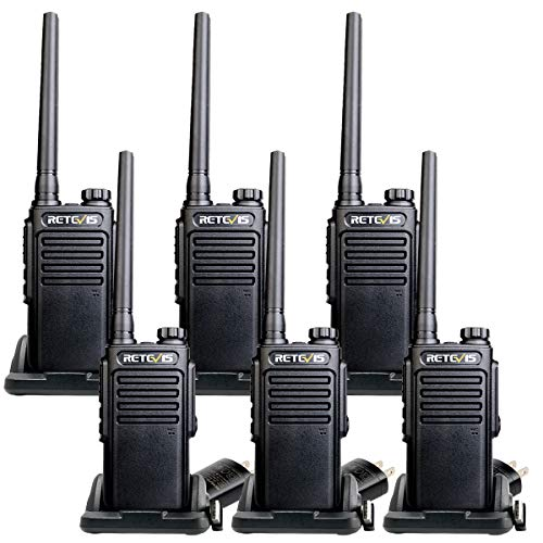 Retevis RT47V MURS 2 Way Radios, IP67 Waterproof Walkie Talkie for Adults,Rugged Commercial 2 Way Radios for Factory Warehouse (6 Pack)
