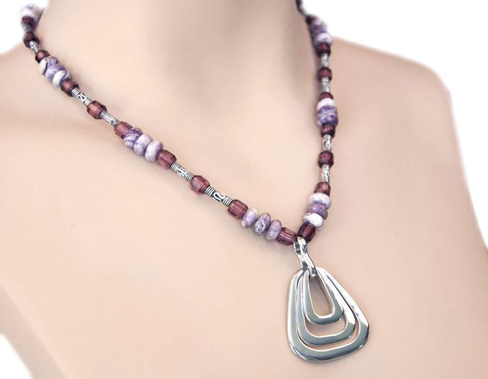 Max 58% OFF Topics on TV Sterling Silver Triangular Pendant Barrels Amethyst Purple Bali