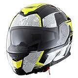 Astone Helmets - RT1200 Graphic VIP- Casque de moto modulable - Casque de moto polyvalent - Casque de moto homologué - Coque en polycarbonate - black/white/yellow fluo L