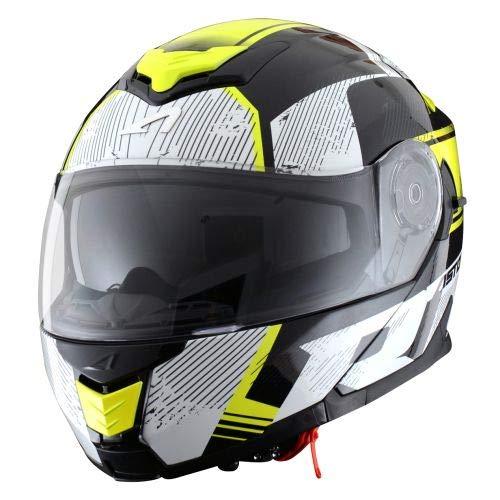 Astone Helmets - RT1200 Graphic VIP- Casque de moto modulable - Casque de moto polyvalent - Casque de moto homologué - Coque en polycarbonate - black/white/yellow fluo S
