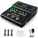 Electric Guitar Amp, Guitar Amplifier with Built-in Effects, Mini Practice Guitar Effect Amp Rechargeable Portable Amplifier with 3 Power Outlets, AUX IN and Headphone Jack