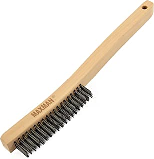 Wire Brush,Heavy Duty Carbon Steel Wire Scratch Brush for Cleaning Rust with 14
