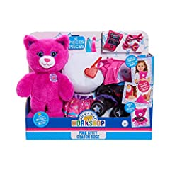 "Now kids can bring the fun of Build-A-Bear Workshop right to their home! This adorable 10"" furry friend comes with everything kids need to recreate the exciting experience of making their own furry friend! The set comes with plush stuffing, a heart l..."