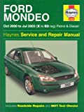 Ford Mondeo Petrol and Diesel Service and Repair Manual: 2000 to 2003 (Haynes Service and Repair Manuals) by A. K. Legg (1-Sep-2003) Hardcover