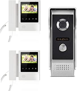 4.3 pulgadas con cable de timbre de video Villa Impermeable Intercomunicación de teléfono Borrar LCD Sistema de entrada de puerta Kit Seguridad para el hogarCamera+2Monitor