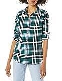 Amazon Essentials Long-Sleeve Classic-Fit Lightweight Flannel Shirt Athletic-Shirts, Dark Green Kilt Plaid, XL