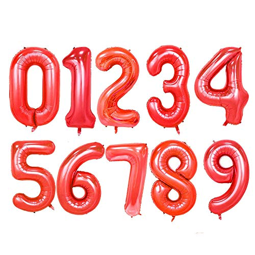Lowest Price! Cutdek 7 40 Red Mylar Foil Balloon Huge Number Balloons Letter Float w Helium Birthda...