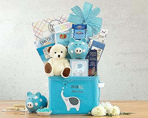 New Baby Boy Gift Basket- Oh Baby Blue Newborn Baby Boy Gift Basket by...