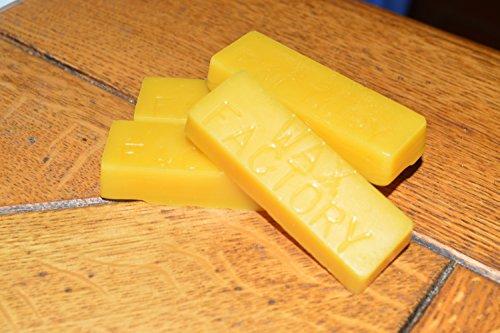 Wax Factory Branded - 4 x 25g Beeswax Blocks - Premium Pure Yellow Beeswax