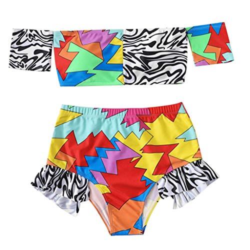 KPILP Womens Swimsuit Two Piece Bikini Set Bandeau Swim Trunks Suit Swimwear Boho Funny Fashion 3D Print High Waisted Bathing Suit Plus Size Swimming CostumeRedS