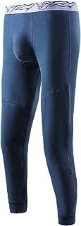 LIUHD Men's Winter Thermal Underwear Long Underpants Thermal Pants Winter Clothing Outdoor Hiking Heating Pants