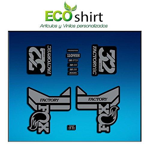 Ecoshirt WA-ZIJ7-7874 Aufkleber Fork Fox 32 Factory SC Float 2017 Am87 Aufkleber Decals Sticker Gabel Gabel grau