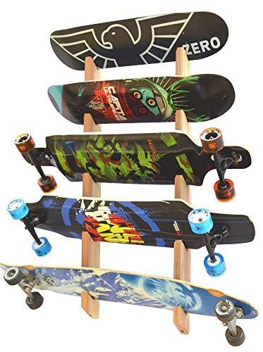 Pro Board Racks Longboard Wall Rack Mount (Holds 5 Board)