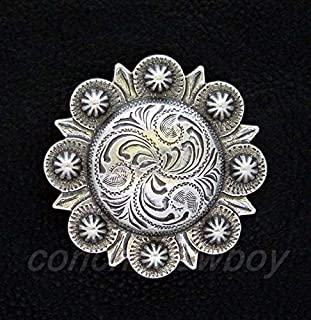 JumpingLight Western Horse Headstall Saddle Horn Cap TACK Antique Berry Concho 2'' Screw Back Perfect for Crafts, Scrap-Booking, Jewelry, Projects, Quilts