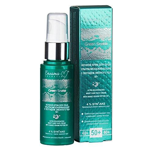 Green Snake Anti-Aging Nachtcreme/Creme 50+ 50g, mit mit Schlangengift-Peptid SYN®-AKE,...