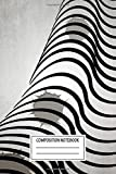 Composition Notebook: Pop Art Abstract Curves Silhouettes Wide Ruled Note Book, Diary, Planner, Journal for Writing