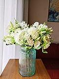 4 paquetes de hortensias artificiales, flores de seda, ramo