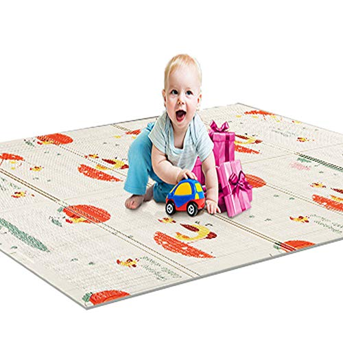 Review Of BLUEBEE Folding Baby Play Blanket,Kid Play Mat, Non Toxic Folding Floor Mat Foam Large Til...