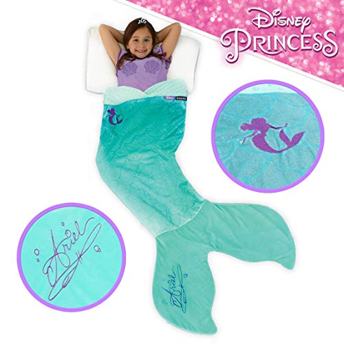 Blankie Tails | Disney Princess Dress Wearable Blanket - Double Sided Super Soft and Cozy Princess Minky Fleece Blanket - Machine Washable Fun Disney Blanket for Kids (Ariel)