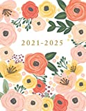 Five Year Planner: Monthly Logbook and Journal, 60 Months Calendar. Floral Cover (2021-2025 Planner, Size: 8.5x11)