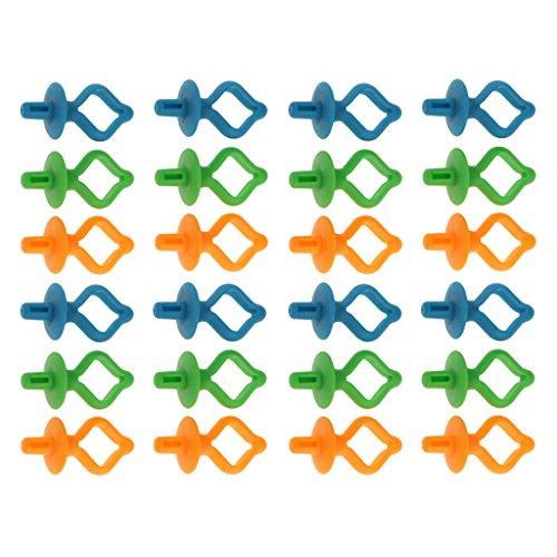 Sharplace 24x Support Bobine en Silicone Rangement Accessoire pour Machine à Coudre DIY