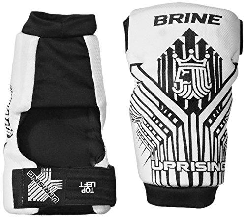 Brine Uprising Lacrosse Arm Pad (Medium, White)