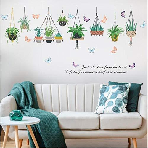 Muurstickers verse bloempotten opknoping mand kinderkamer slaapkamer verwijderbare PVC behang