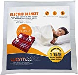 Warmzzz Wool Shock-Proof Electric Blanket for Double Bed. Bed Warmer with 4 Heat