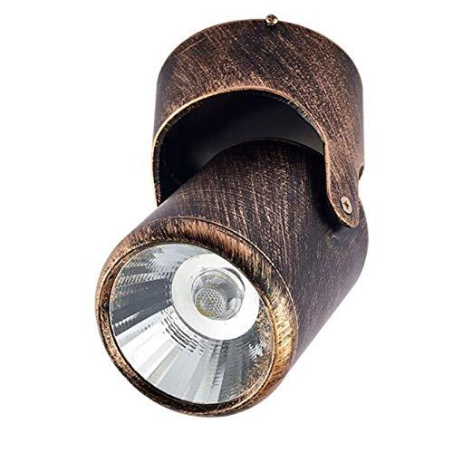 Lámpara de Pared Para Exteriores LED de pared exterior del accesorio, bronce aceitado acabado con claro prismático de la lente, impermeable colada de la pared del cilindro del aluminio mate lámpara de