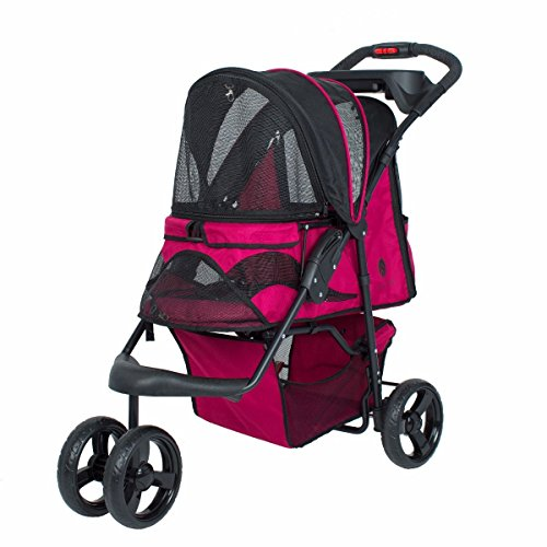 PETIQUE Razzberry Pet Stroller, Razzberry, One Size (ST01100103)