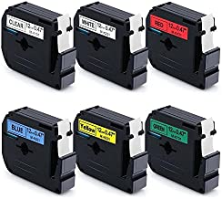 MarkDomain Replace M131 M231 M431 M531 M631 M731 6 Pack Compatible with Brother 12mm(0.47