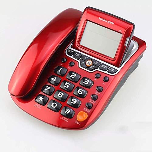 XYFJD Teléfono Fijo teléfono Fijo, portátil de Escritorio con Cable de teléfono en Tiempo Real con identificador de Llamadas, devolución de Llamada, grabación de Llamadas, casa/Oficina/Altavoz Hot