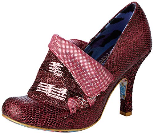 Irregular Choice Flick Flack, Zapatos de tacón con Punta Cerrada para Mujer, Pink DF, 5 EU