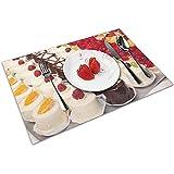 Alvahw Backen Sie Gebäck Gebäck Petits Fours-Tischsets Set von 4 Tischset Küche Tischsets