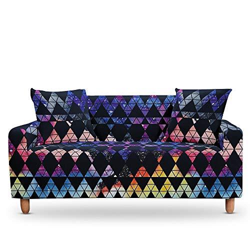 ASCV Geometrische Marmorkissen Universal Armchair Furniture Covers Elastic Case auf der Ecksofabezug A4 3-Sitzer