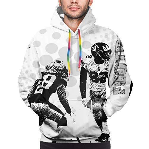 Preisvergleich Produktbild Men's Hoodies Sweatershirt, Grungy American Football Image International Team World Cup Kick Off Play Speed Victory, 3D Printing Long Sleeve Casual Sweatershirt Tops, Size Medium
