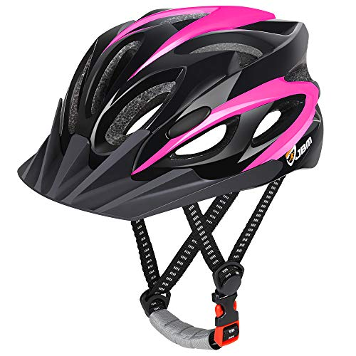JBM Kids Helmet Children Cycling Helmet Child Bike Helmet Adjustable Kids Scooter Helmet for 5~13 Boys &Girls Safety Child Helmet for Biking, Scootering, Rollerblading, Skateboarding (Black Pink)
