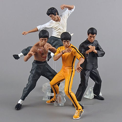 Kong Fu Master Bruce Lee Kung Fu PVC Action Figures Toy 4pcs/Set Cool Action Figure with Shipping Package