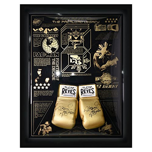 MemorabiliaOutlet Firmato Manny Pacquiao Legacy Limited Edition Cleto Reyes guantoni da Boxe Display