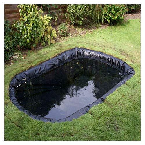 PVC Teichfolie Schwarz, 4 m x 7 m 4 m x 6 m Teichfolie Gartenteich HDPE für Fischteich Bachbrunnen Wassergarten Wassergarten, UV und Witterungsbeständig Teichfolie Garte(Size:4x2M(13x7ft),Color:20S)