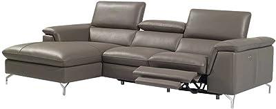 Amazon.com: J&M Furniture Ibiza Full White Italian Leather ...