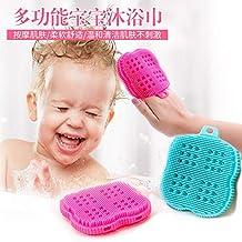 Trady Silicone Baby Towel Silicone Body Brush FDA-Approved Ultra Soft Baby Bath Silicone Scrubber Anti-Bacteria BBTTO Sili...