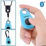 CamKix Bluetoothワイヤレステクノロジーを備えたリモートコントロールカメラシャッター-ドロップスタイル-iPhone / Androidで使用可能-ワンボタンコントロール-カラビナと取り外し可能なリング付きストラップが付属