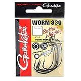 Gamakatsu Worm 330 Bottom Jigging - Offset Haken für Gummiköder, Offsethaken für Gummifische, Wide Gap Angelhaken für Jigs, Größe/Packungsinhalt:Gr. 5/0 - 5 Stück