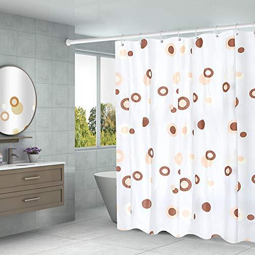 Aistuo Duschvorhang 180 x 200 Transparent,PEVA Wasserdicht, Halb-transparent Klar, Anti Schimmel, PVC-frei Umweltfre&lich Waschbar mit 12 Ringe (Grauer Punkt)