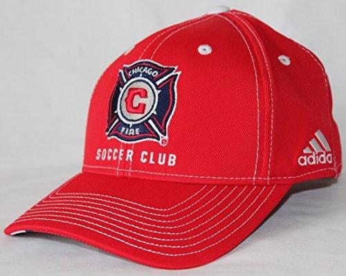 adidas Chicago Fire MLS Jersey Trikot Hooks Team Structured Adjustable Hat Hut