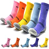 DearMy 5Pack of Women's Multi Performance Cushioned Athletics Hiking Crew Socks | Moisture Wicking |...