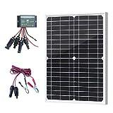 XINPUGUANG 20 Watt 18 V Solarpanel Monokristallines Solarmodul 12 v kit 10A solar ladegerät für Wohnwagen, Wohnmobil, Licht,Boot, Gartenhäuse, 12V Batterie (20)