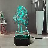 super mario run touch remote 3d luce notturna per bambini 16 colori lampada da tavolo lampada notturna bambino camera decorazione luce, regalo di compleanno di natale per ragazzi